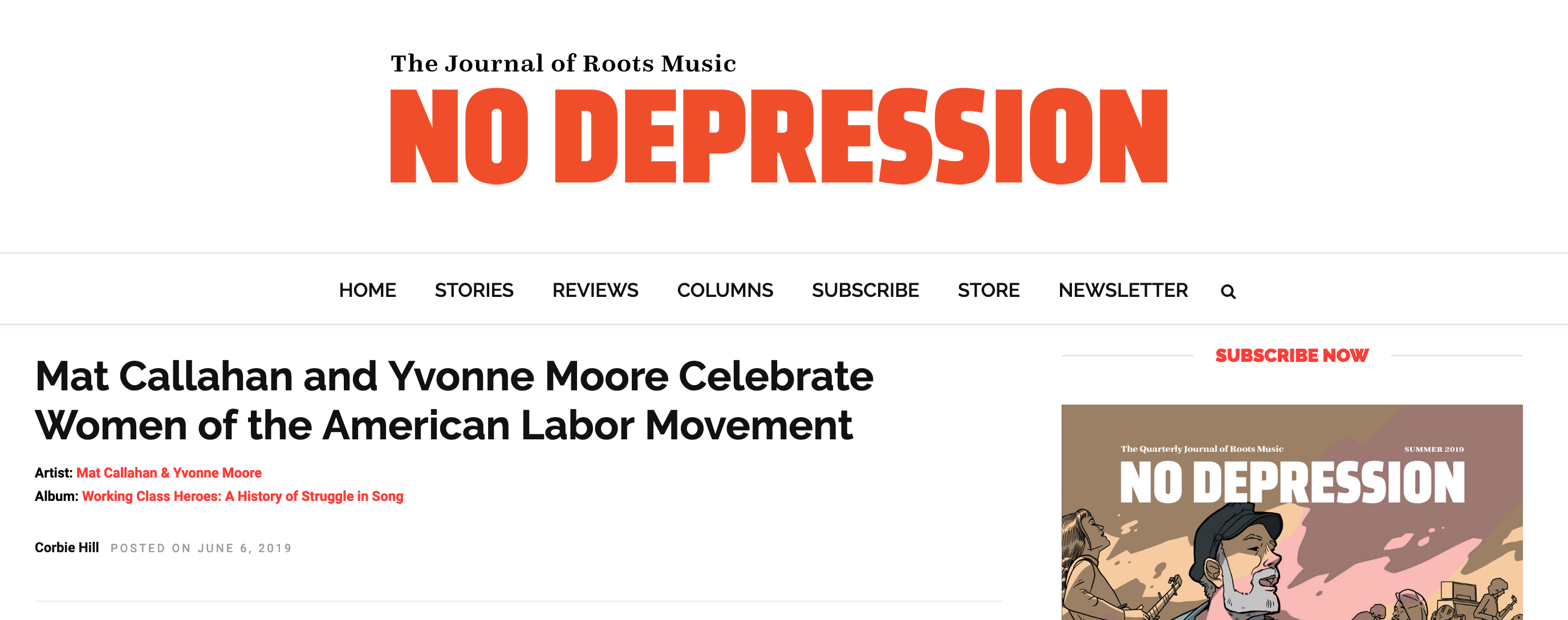 Review in The Journal of Roots Music